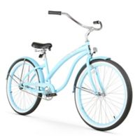 "Firmstrong Bella Classic 26"" Single Speed Beach Cruiser Bicycle in Baby Blue"