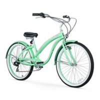 "Firmstrong Bella Classic 26"" Seven Speed Beach Cruiser Bicycle in Mint Green"