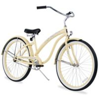 "Firmstrong Bella Classic 26"" Single Speed Beach Cruiser Bicycle in Vanilla"