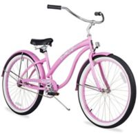 """Firmstrong Bella Classic 26"""" Single Speed Beach Cruiser Bicycle in Pink"""