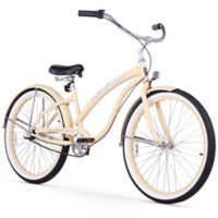 "Firmstrong Bella Classic 26"" Three Speed Beach Cruiser Bicycle in Vanilla"