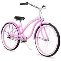 """Firmstrong Bella Classic 26"""" Three Speed Beach Cruiser Bicycle in Pink"""