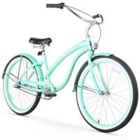 "Firmstrong Bella Classic 26"" Three Speed Beach Cruiser Bicycle in Mint Green"