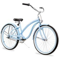 "Firmstrong Bella Classic 26"" Three Speed Beach Cruiser Bicycle in Baby Blue"