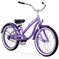 "Firmstrong Bella Classic Girl's 20"" Single Speed Cruiser Bicycle in Purple"