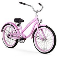 "Firmstrong Bella Classic Girl's 20"" Single Speed Cruiser Bicycle in Pink"