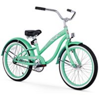"Firmstrong Bella Classic Girl's 20"" Single Speed Cruiser Bicycle in Mint Green"