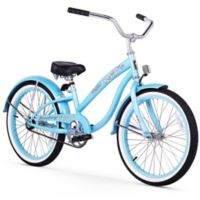 "Firmstrong Bella Classic Girl's 20"" Single Speed Cruiser Bicycle in Baby Blue"