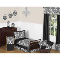 Sweet Jojo Designs Isabella 5-Piece Toddler Bedding Set in Black/White