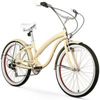 "Firmstrong Bella Fashionista 26"" Seven Speed Beach Cruiser Bicycle in Vanilla"