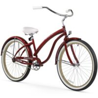 "Firmstrong Bella Fashionista 26"" Single Speed Beach Cruiser Bicycle in Burgundy"