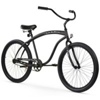 "Firmstrong Men's Bruiser 26"" Single Speed Beach Cruiser Bicycle in Matte Black"
