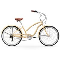 "Firmstrong Chief Lady 26"" Seven Speed Beach Cruiser Bicycle in Vanilla"