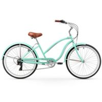 "Firmstrong Chief Lady 26"" Seven Speed Beach Cruiser Bicycle in Mint Green"
