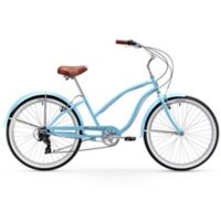 "Firmstrong Chief Lady 26"" Seven Speed Beach Cruiser Bicycle in Baby Blue"