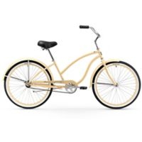 """Firmstrong Chief Lady 26"""" Single Speed Beach Cruiser Bicycle in Vanilla"""