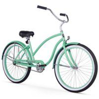 "Firmstrong Chief Lady 26"" Single Speed Beach Cruiser Bicycle in Mint Green"