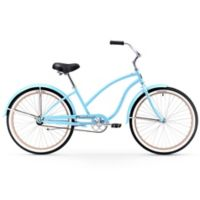 "Firmstrong Chief Lady 26"" Single Speed Beach Cruiser Bicycle in Light Blue"