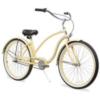 "Firmstrong Chief Lady 26"" Three Speed Beach Cruiser Bicycle in Vanilla"