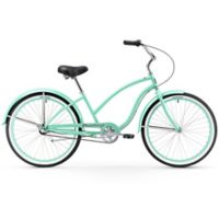 "Firmstrong Chief Lady 26"" Three Speed Beach Cruiser Bicycle in Mint Green"