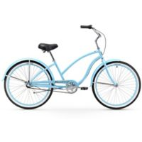 "Firmstrong Chief Lady 26"" Three Speed Beach Cruiser Bicycle in Baby Blue"
