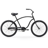 "Firmstrong Chief Man 26"" Single Speed Beach Cruiser Bicycle in Matte Black"
