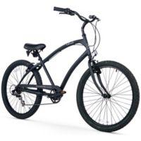 Firmstrong CA-520 Men's 7-Speed Beach Cruiser Bike in Matte Black