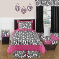 Sweet Jojo Designs Isabella 3-Piece Bedding Set in Hot Pink/Black/White