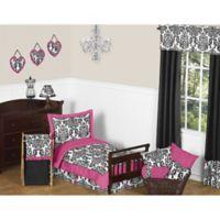 Sweet Jojo Designs Isabella 5-Piece Toddler Bedding Set in Pink/Black/White