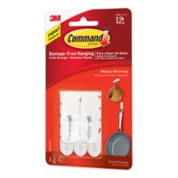3M Command™ Medium Wire Hooks in White (Set of 2)