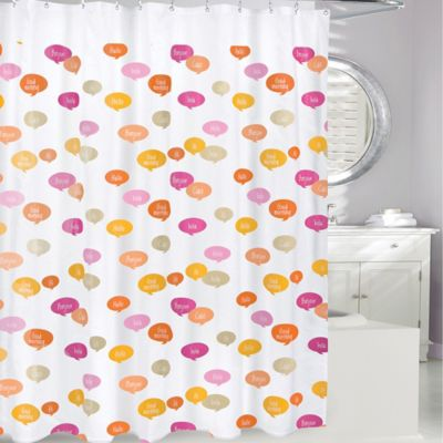 pale pink shower curtain. Ciao PEVA Shower Curtain In Pink Orange Buy From Bed Bath  Beyond