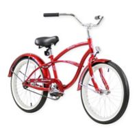 """Firmstrong Urban Boy 20"""" Single Speed Beach Cruiser Bicycle in Red"""