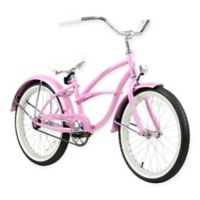 "Firmstrong Urban Girl 20"" Single Speed Beach Cruiser Bicycle in Pink"