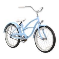 "Firmstrong Urban Girl 20"" Single Speed Beach Cruiser Bicycle in Baby Blue"