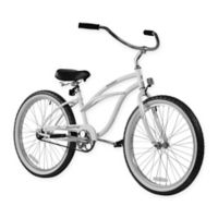 "Firmstrong Urban Lady 24"" Single Speed Beach Cruiser Bicycle in White"