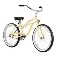 "Firmstrong Urban Lady 24"" Single Speed Beach Cruiser Bicycle in Vanilla"