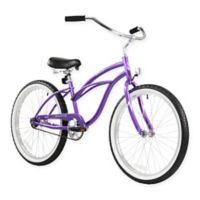 "Firmstrong Urban Lady 24"" Single Speed Beach Cruiser Bicycle in Purple"