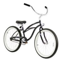 "Firmstrong Urban Lady 24"" Single Speed Beach Cruiser Bicycle in Black"