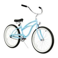 "Firmstrong Urban Lady 24"" Single Speed Beach Cruiser Bicycle in Baby Blue"