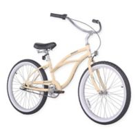 "Firmstrong Urban Lady 24"" Three Speed Beach Cruiser Bicycle in Vanilla"