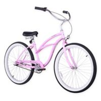 "Firmstrong Urban Lady 24"" Three Speed Beach Cruiser Bicycle in Pink"