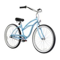 "Firmstrong Urban Lady 24"" Three Speed Beach Cruiser Bicycle in Baby Blue"
