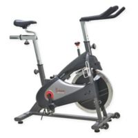 Sunny Health & Fitness Chain Drive Indoor Cycling Bike in Grey