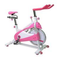 Sunny Health & Fitness Belt Drive Premium Indoor Cycling Bike in Pink