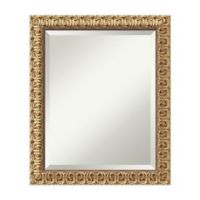 24-Inch Florentine Mirror in Gold