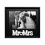 Mr.& Mrs. 4-Inch x 6-Inch Picture Frame in Black