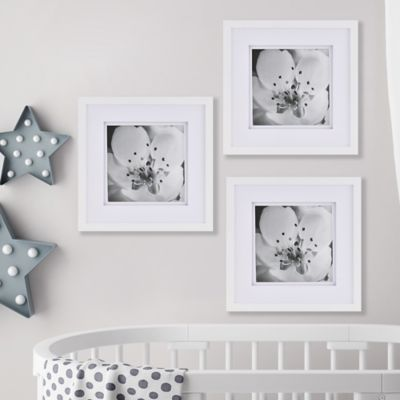 real simple gallery frame set in white set of 3