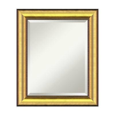 21inch x 25inch vegas rectangular mirror in burnished gold