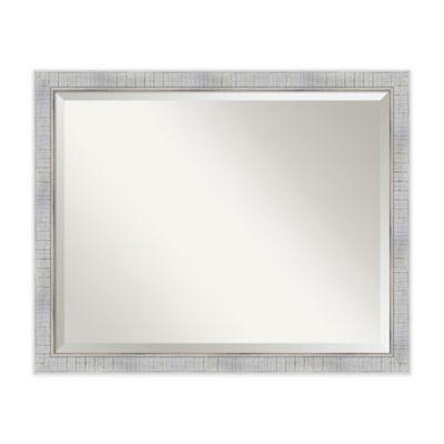 31 inch x 25 inch sonoma rectangular mirror in white - White Frame Mirror