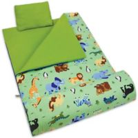 Olive Kids Wildkin Wild Animals 3-Piece Sleeping Bag Set in Green